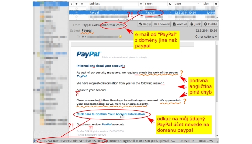 10 tipů jak poznat phishing
