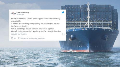 Logistický gigant CMA CGM offline kvůli útoku malwaru