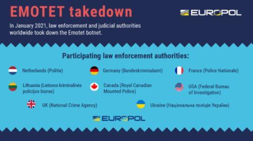 Europol oznámil výsledek globální operace proti malwaru Emotet
