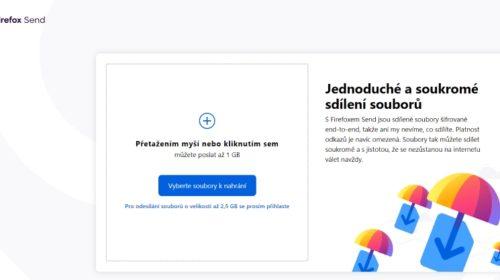 Firefox Send: Šifrovaný přenos souborů pro všechny, zdarma