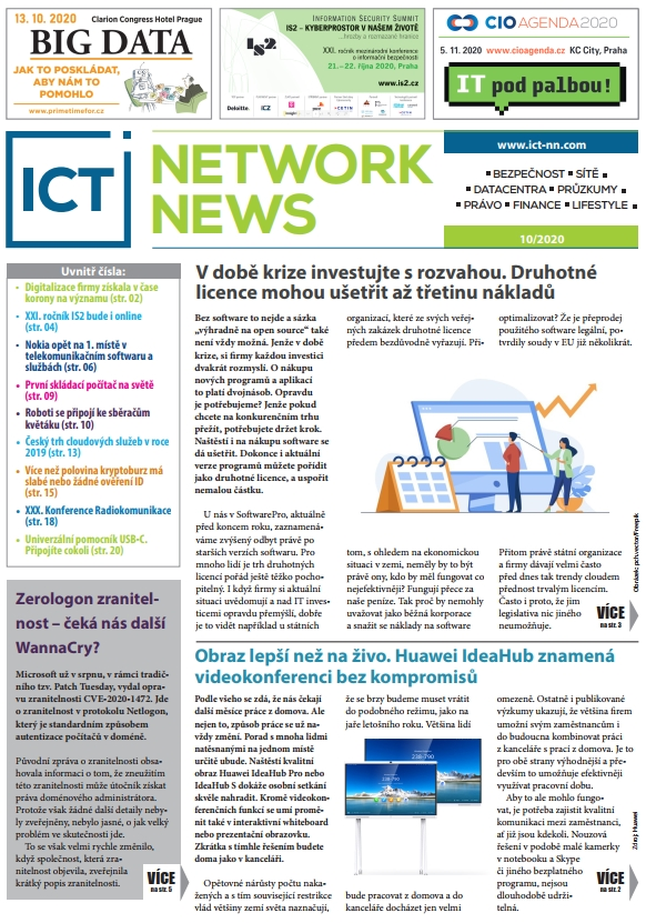ICT NETWORK NEWS 10-2020 cover