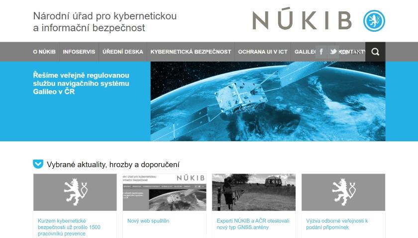 NÚKIB web