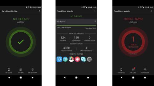 První řešení s technologií prevence hrozeb pro podniková mobilní zařízení