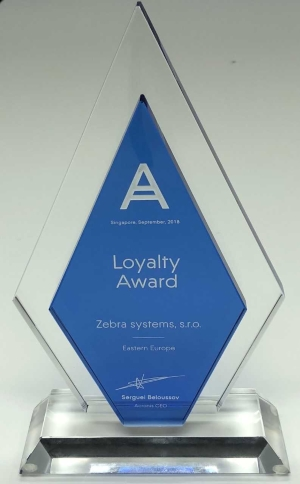 Zebra systems s.r.o. award